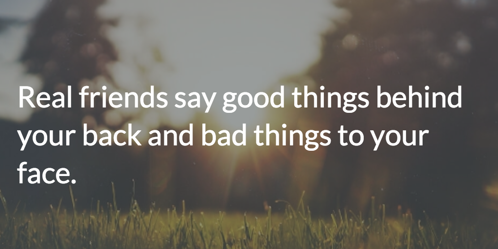 what to say to a bad friend
