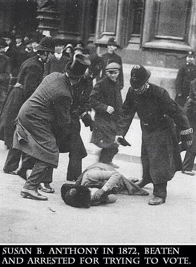 Stunning photo. RT @JohnRMoffitt In 1872, Susan Anthony was beaten for suggesting that women might vote. http://t.co/mnUUBjurJP