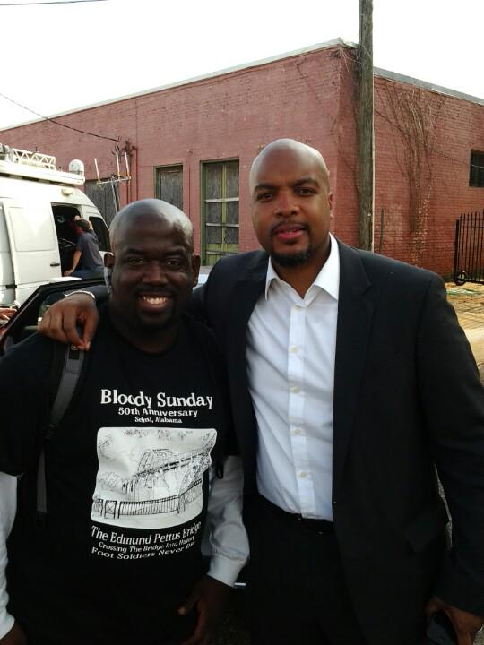 Glad to hang with the homie @trymainelee from MSNBC #Selma50 #ShawnKnightShow http://t.co/shRQs0ahbk