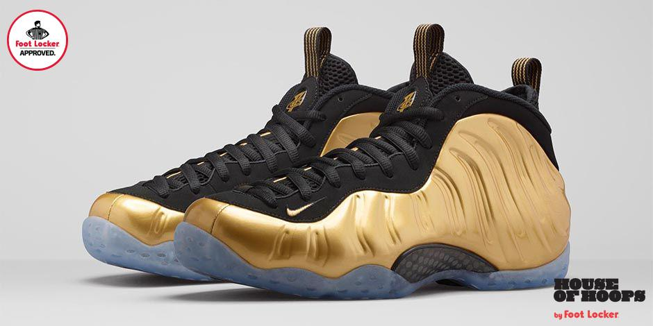 nike air foamposite one metallic gold releases in stores online saturday  stores details gt 20693d4fa