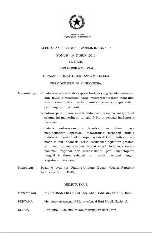 Selamat #HariMusikNasional Dukung Terus Semua Musisi Indonesia