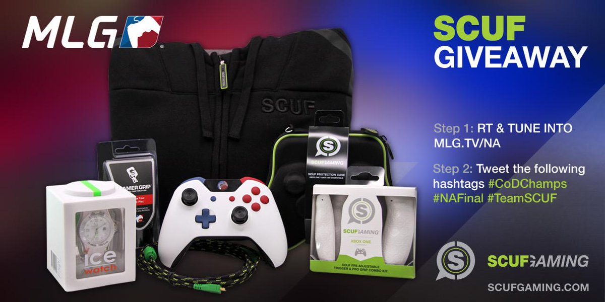 Win a MLG @ScufGaming Pro Pack! Follow/RT using #CoDChamps, #NAFinals, #TeamSCUF & http://t.co/EewcHCMKAk