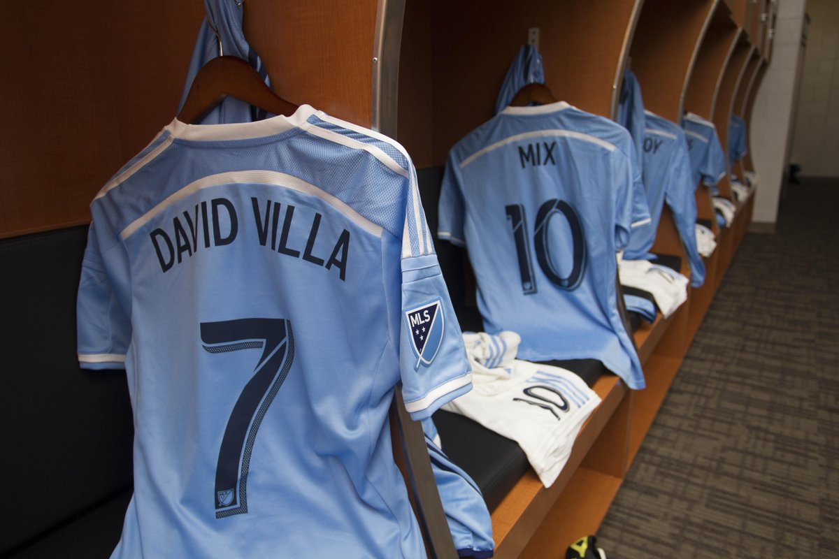 .@Guaje7Villa's jersey for #NYCFC's first ever match vs. @OrlandoCitySC