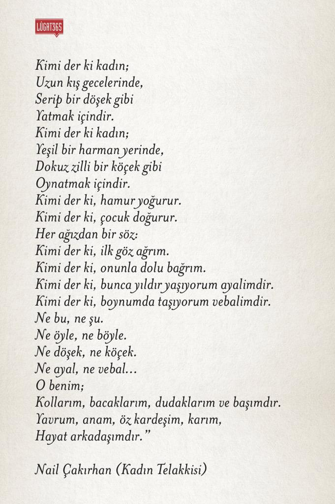 Lûgat365 On Twitter Yanlış Bir Kanıyla Nazım Hikmet şiiri Olarak