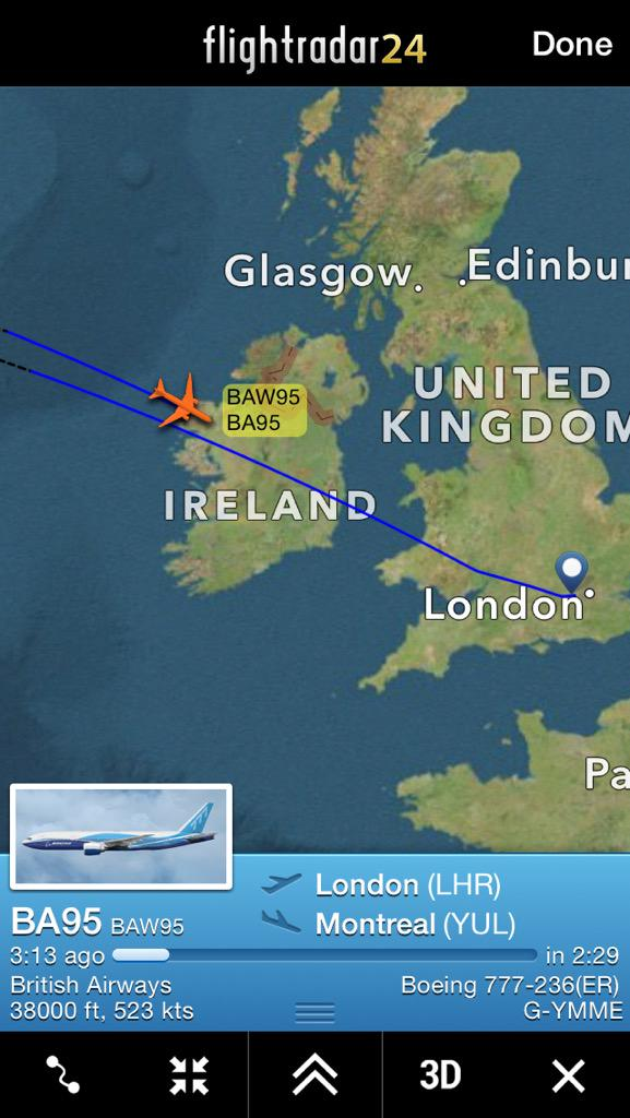 0d15c9baf12f DIVERSION British Airways  BA95 to  Montreal appears to be returning back  to  London  CTVMontrealpic.twitter.com 7aN4MHSg1J