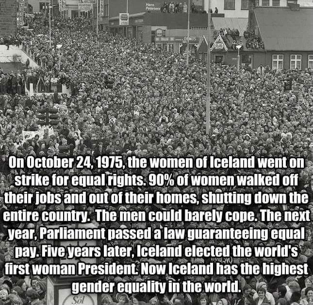 http://t.co/T0EfjKAh6a RT @Feministfists: Icelandic women give ZERO FUCKS #IWD2015 http://t.co/dm9lLwArd9