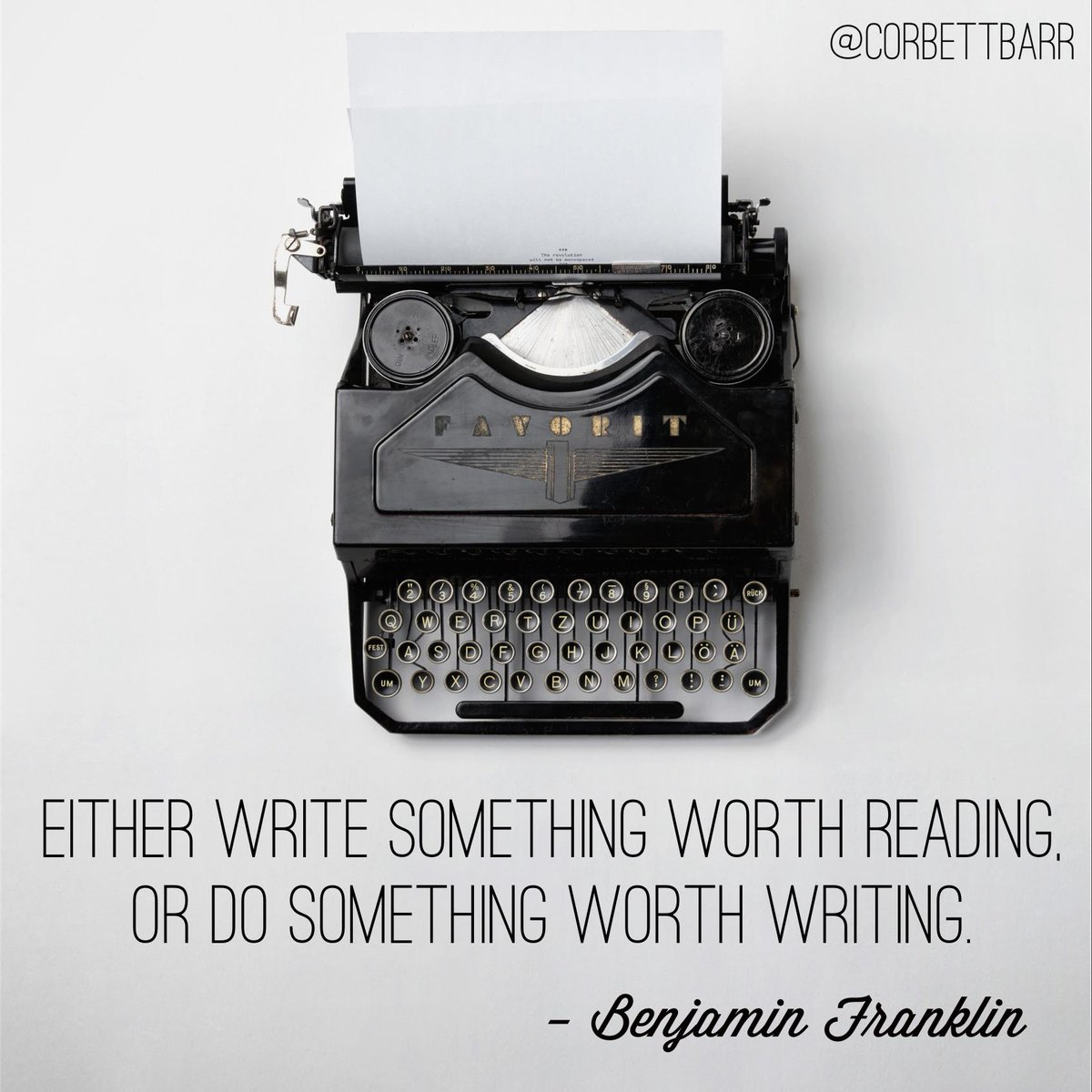 """Either write something worth reading, or do something worth writing."" - Benjamin Franklin http://t.co/zLnIeqhxVz"