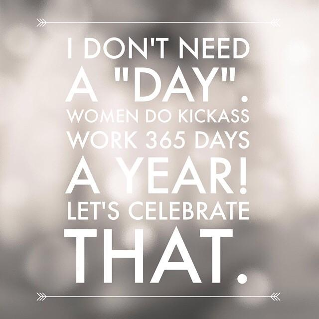 Let's celebrate women and the work they do everyday. http://t.co/5vpyPhIB1T http://t.co/VctozwQRRC