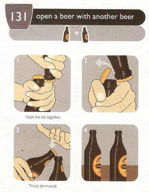 """Useful? RT """"@TheWeirdWorld: How to open a beer with another beer... http://t.co/22Wm8kDSul"""""""