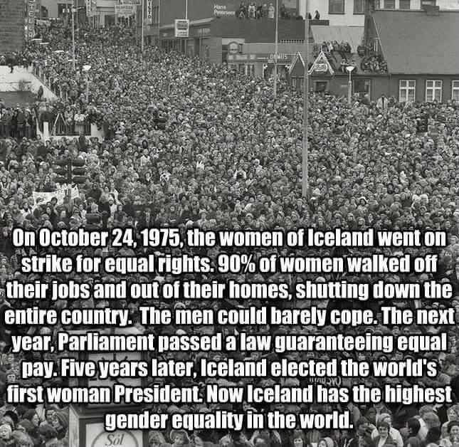 """Ladies: """"@Suparn: The women in India need to do what the women in Iceland did in 1975. They went on STRIKE. http://t.co/oHRBx5jBFV"""""""