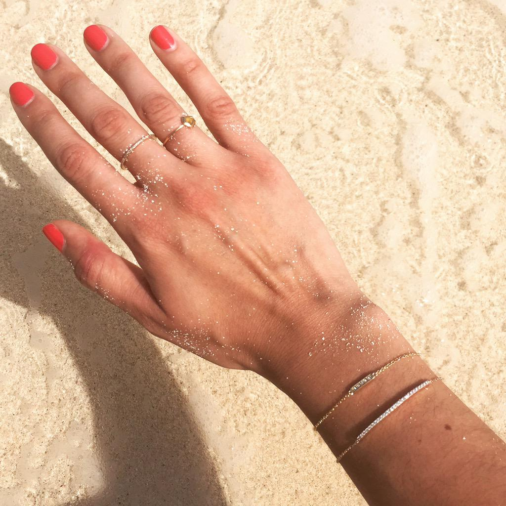 Because #ShashiJewelry + beach + sand go really well together... Shop our collection at http://ShopShashi.compic.twitter.com/vBLlLxVzHr