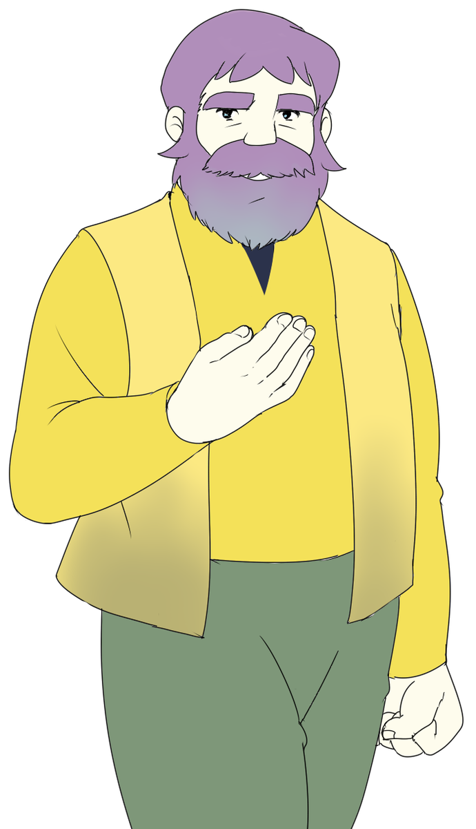 「ハイジのおんじを蜂須賀虎徹カラーで」リプあざした!絵柄似せるの苦労した。背景素材お借りしました~ #1番目にリプ来たキャラクターを2番目にリプ来たキャラクターの色で塗る