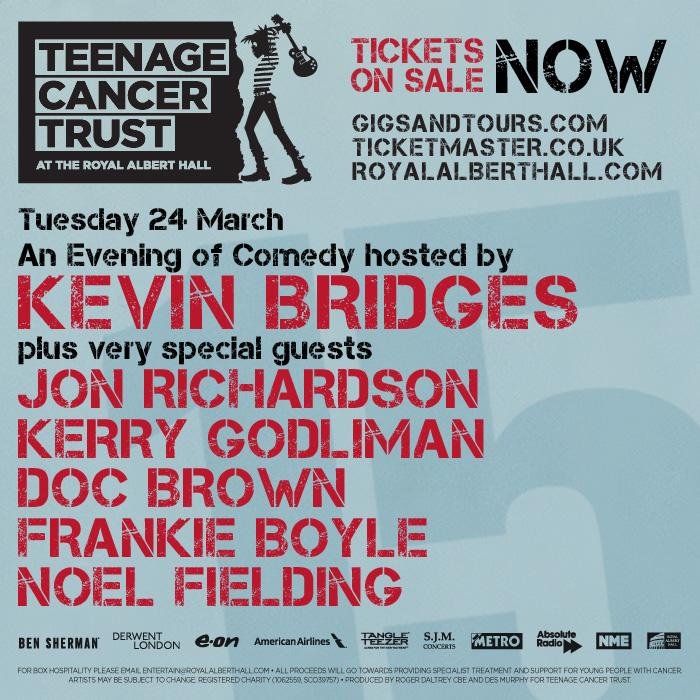 RT @TeenageCancer: .@frankieboyle added to our already incredible #teenagecancergigs comedy night! Get your tix: http://t.co/079bYv5H7P htt…