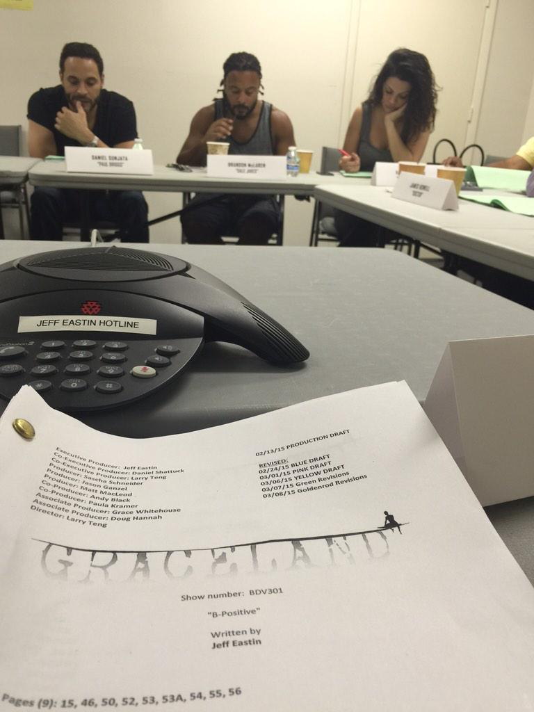 Table read for episodes 1 and 2 of #GracelandTV season 3 http://t.co/ZOPj49UPQv