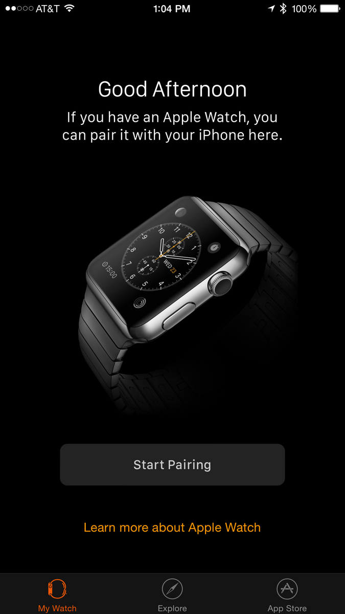 Great. Now I have the Apple Watch app on my iPhone to remind me I won't have the watch to go with it for over a month http://t.co/m9CcCoyydY