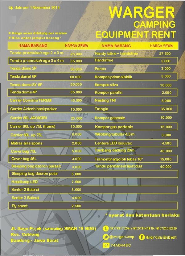 Warger Camping Equip On Twitter Sewa Alat Camping Berkemah Rental Perlengkapan Outdoor Bandung Cp 085793175204 Wa 081220444579 Pin 55546876 Http T Co U94sjzddhe