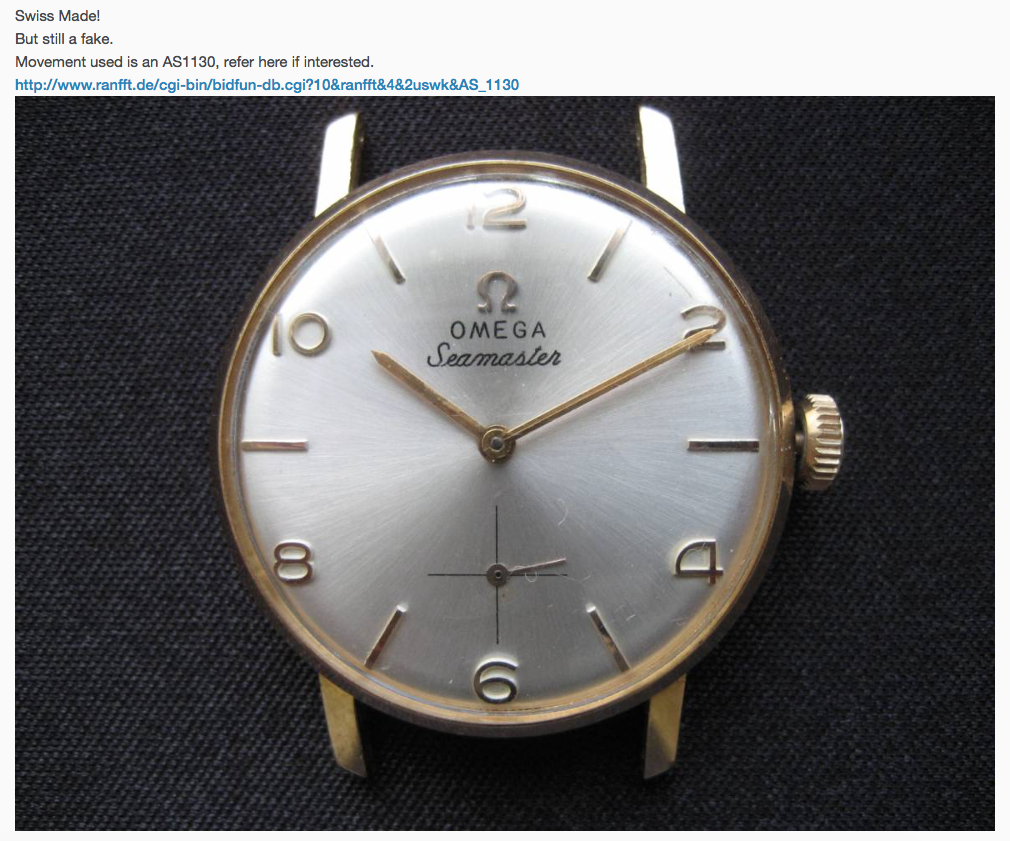 Timetotalk On Twitter Don T Fall For A Fake Vintage Omega Http