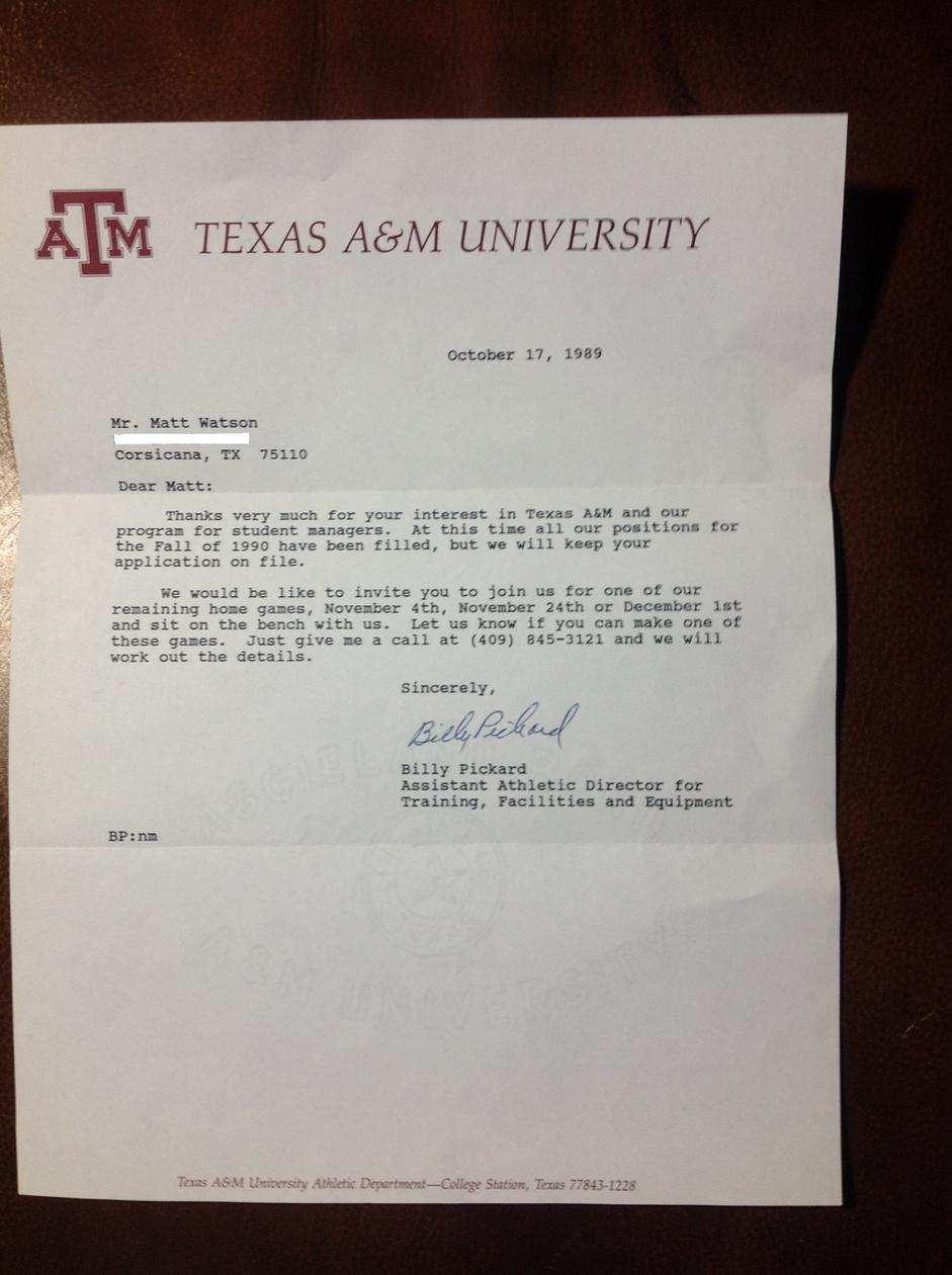 applicant rejection letter position filled