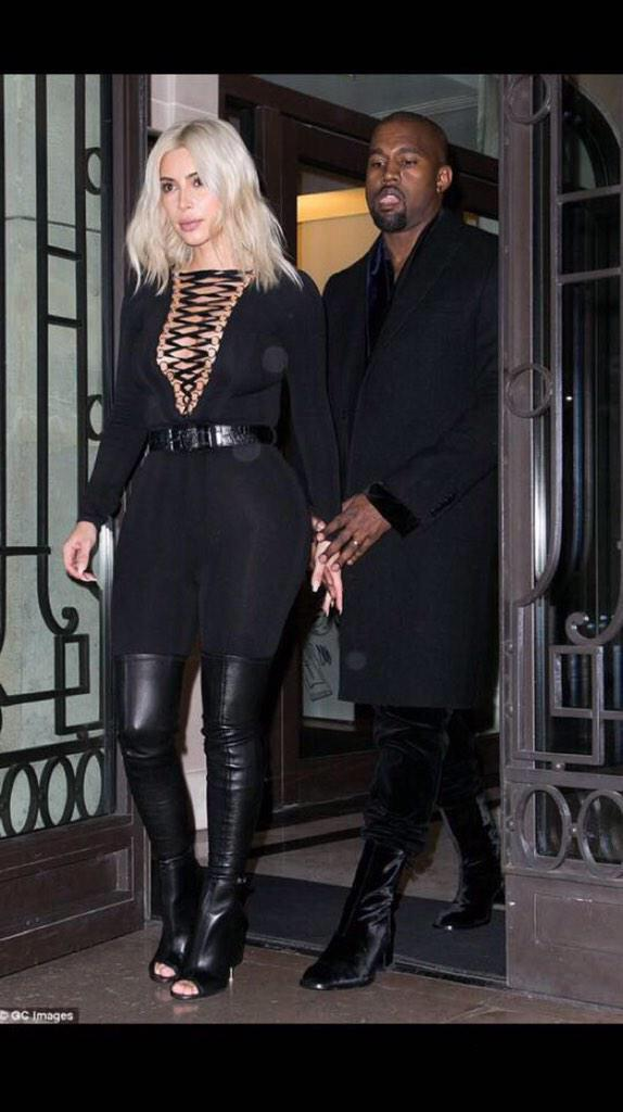 Kanye went from being man'dem last week in London. To madam this week in Paris. http://t.co/f2I0lvvRYo