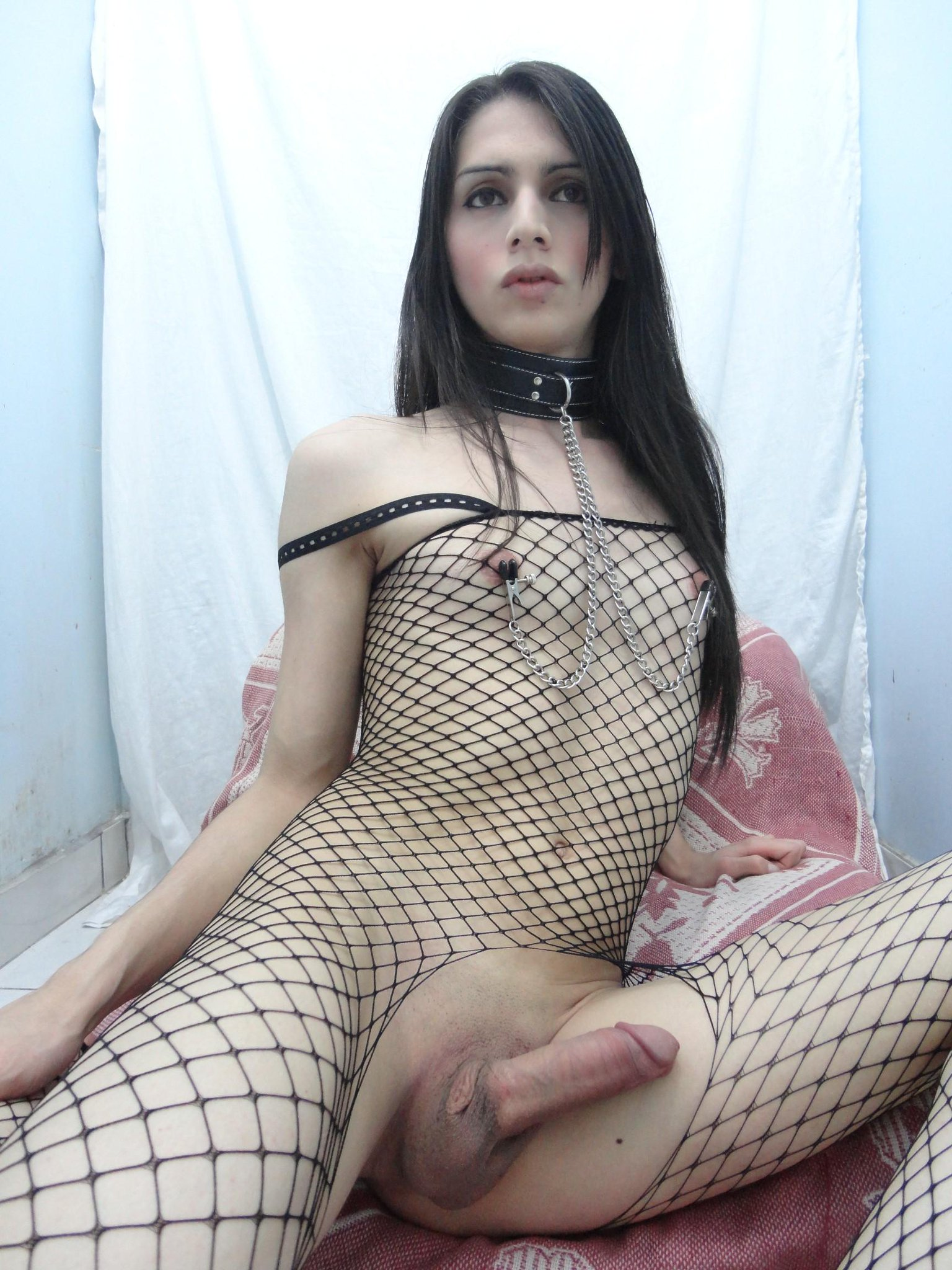 French whore in fishnet hard sodomized in interracial 3way 2