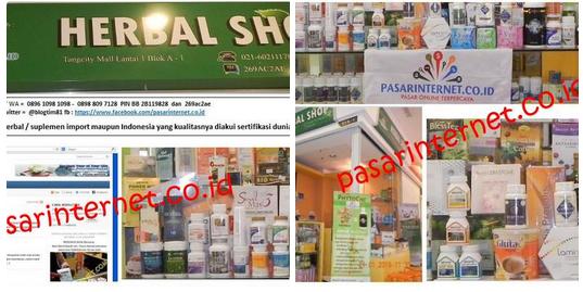 Toko Herbal shop Tangcity mall Tangerang, jual aneka herbal paten, herbal kesehatan, kecantikan untuk wanita dan keperkasaan