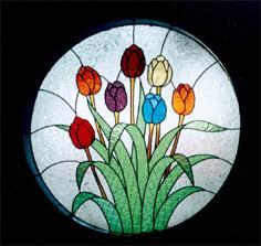 Cahayapelangi On Twitter Silahkan Di Pesan Kaca Motif Bunga Tulip