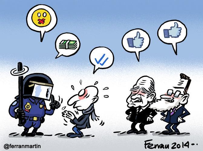 Callados estáis más guapos. #viñeta vía @Republica_com: Ley Mordaza  http://t.co/C0UGvgj7GW #YoTambienSoyD14 http://t.co/qHwP0xyT2n