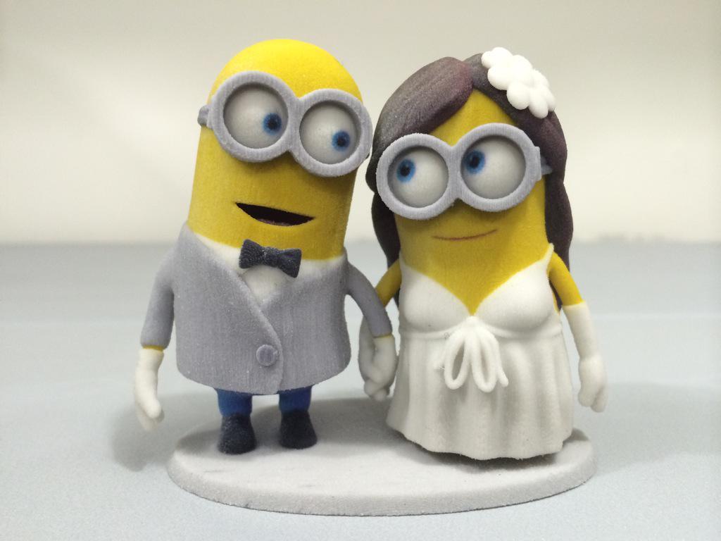 Wedding Cake Topper Minions