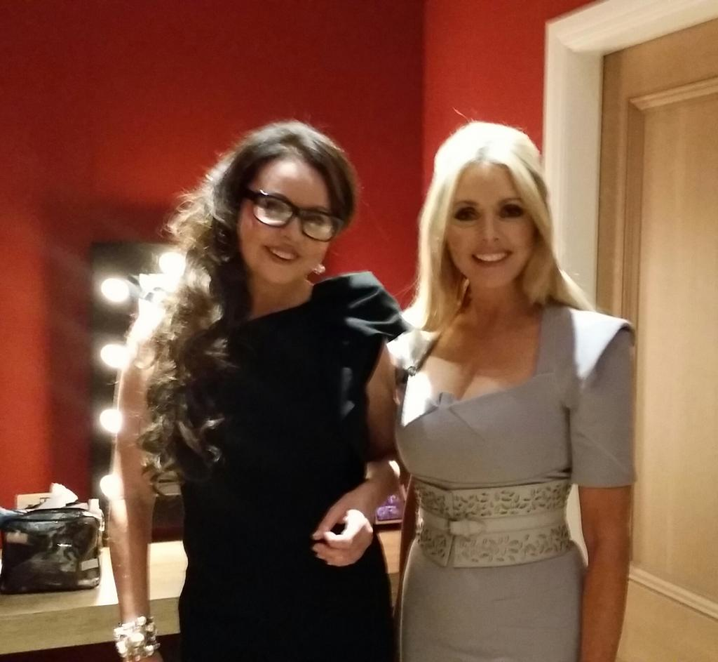 With  @SarahBrightman ..we are just about to go on stage to talk SPACE xx http://t.co/JCYpNM29HG
