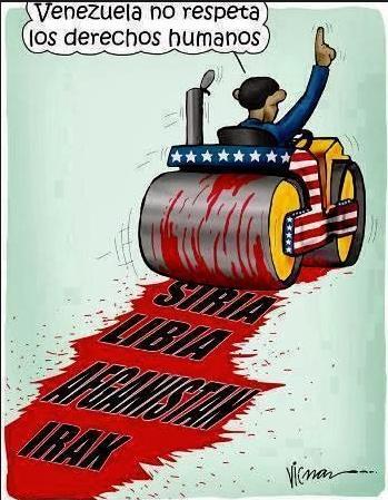 OBAMA amenaza con llevar su DEMOCRACIA a VENEZUELA... como ya ha hecho en Afganistán, Irak, Siria, Libia, Sudán etc http://t.co/ySUbCGYC4Q