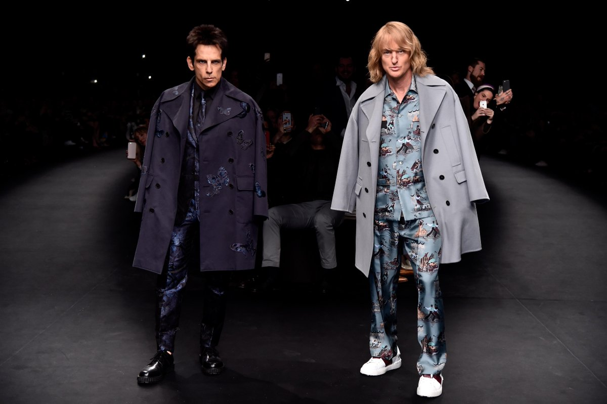 So hot right now: Derek & Hansel blaze down the @MaisonValentino runway, #Zoolander2 announced. Coming Feb. 12, 2016. http://t.co/yZoHdcsvzH