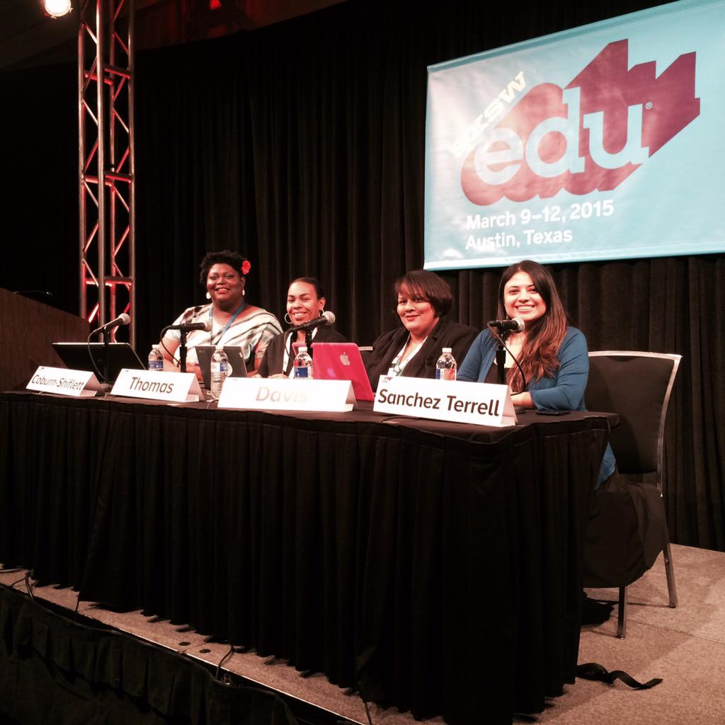 We are getting ready for our #sxswedu panel! Digital Diversity: Minority Women in #edtech #digidiversity http://t.co/vkrNUa4kDe