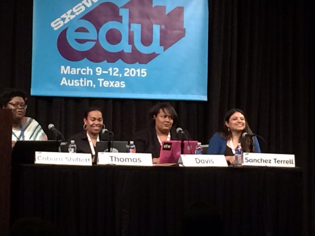 Ready for the #digidiversity session! #sxswedu #girlpower http://t.co/WCYUtKQOPL