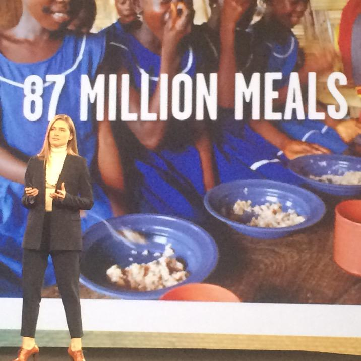 87 million meals for the hungry thanks to @LaurenBLauren and @FEEDprojects #tweet2feed #adobesummit http://t.co/r0QGegFSGX