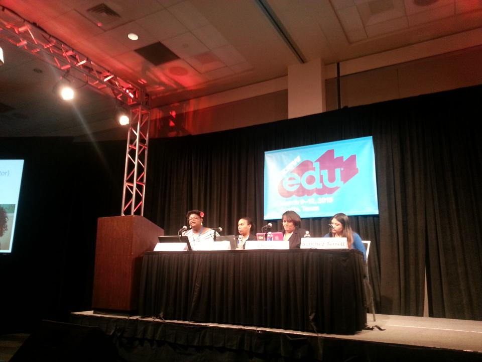 .@CoburnCori leading #digidiversity panel for #edtech women #sxswedu http://t.co/swWN9DBOym