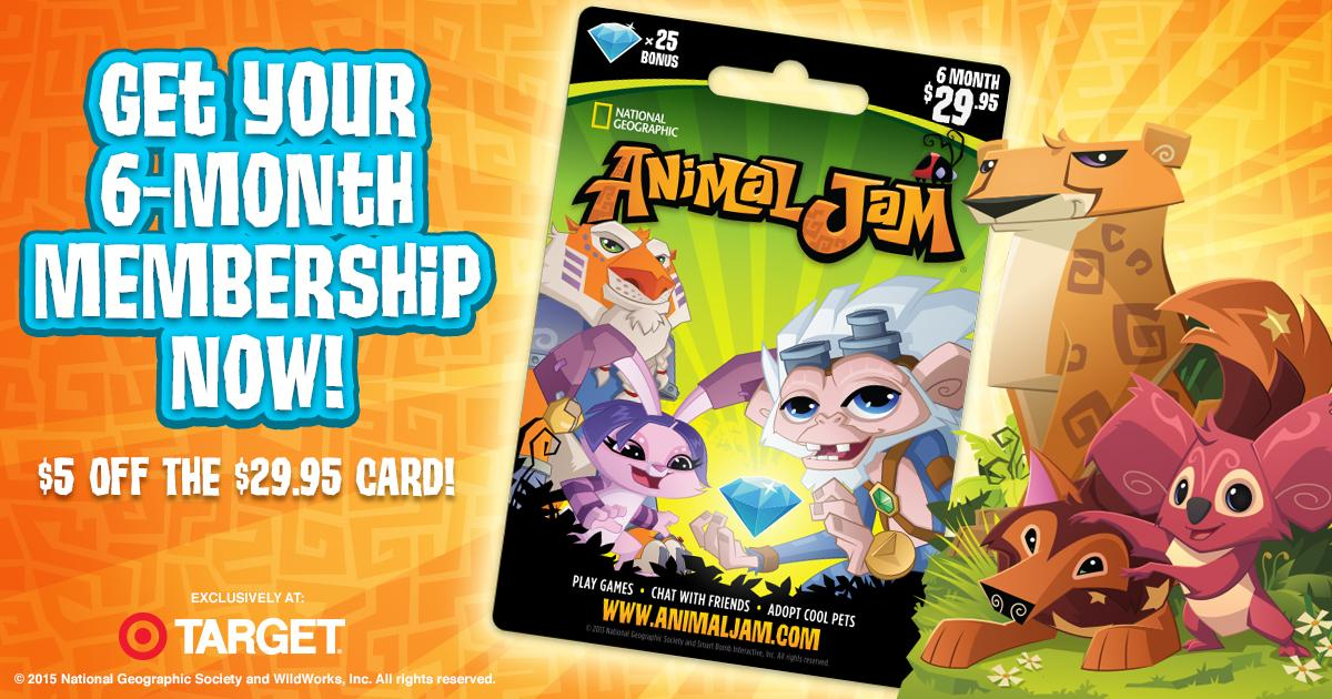 Animal Jam Gift Cards award Club membership as well as diamonds, which can be used to buy amazing animals, cool den items, awesome pets, and fun accessories at the in‑game Diamond Shop!