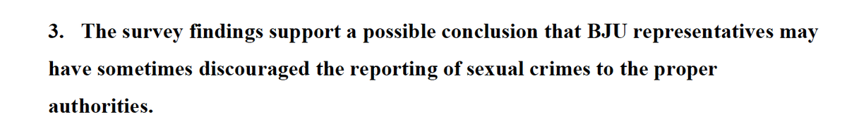 What the #GRACEreport actually said as opposed to what @BJUPresident claims about failure to report. Page 33. http://t.co/tYrDHvzEQG