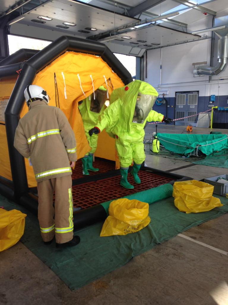 LFRS STC on Twitter  Hazmat crew refresher full decontam in MD4 shower #cleanbehindyourears //t.co/PESfLkGvVg  & LFRS STC on Twitter: