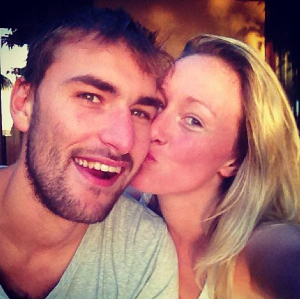 Bas Dost with gracious, fun, enchanting, Girlfriend Annefleur de Leeuw