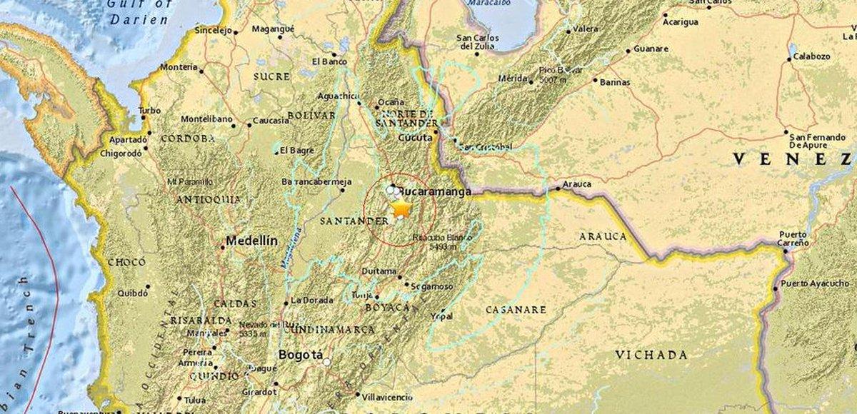 Mappa Epicentro Terremoto Oggi Colombia 10 Marzo 2015