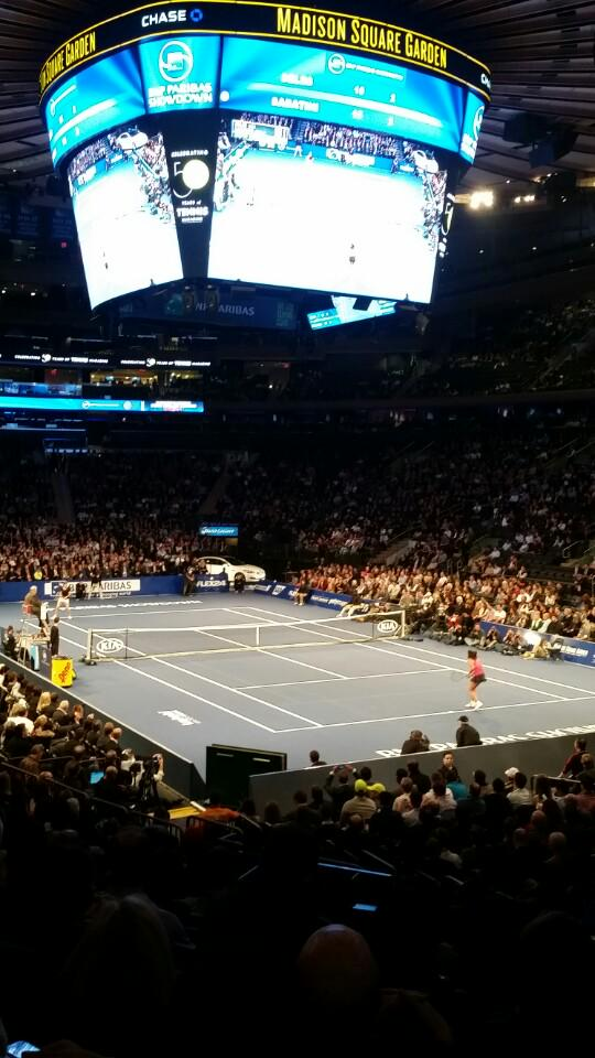 Tennis tradition with Leah!  Great seats! (@ New York Penn Station in New York, NY)  http://t.co/18jxMDP3Ou