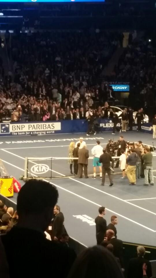 Federer is here! With Leah (@ New York Penn Station in New York, NY w/ @lzelazny)  http://t.co/KZcytvr3tJ