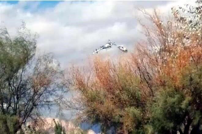 VIDEO immagini dello scontro dei due elicotteri in Argentina