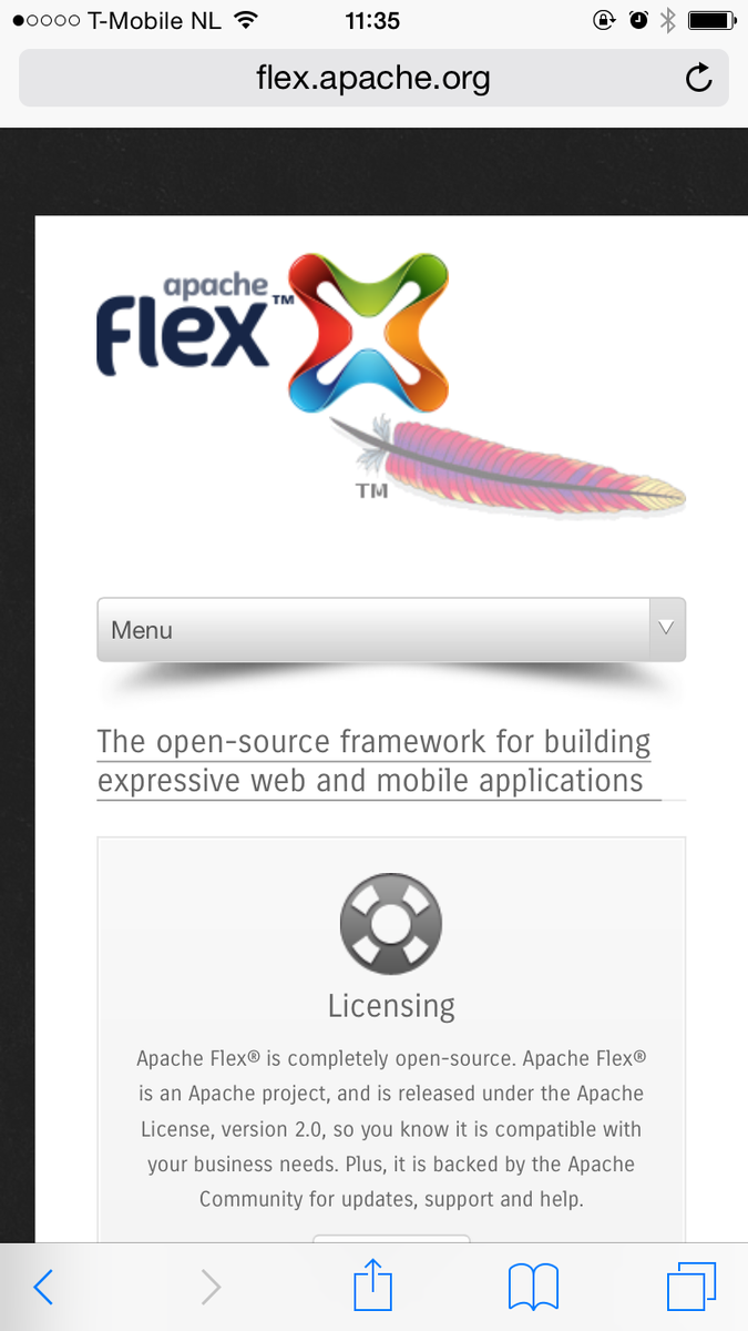 """In today's installment of """"drop shadows that make absolutely no sense whatsoever"""": selectboxes on Apache Flex's site http://t.co/QPEjn5UE1M"""