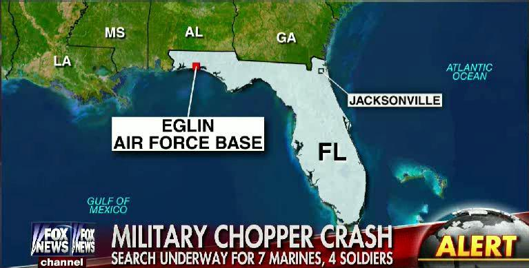 BREAKING: Military says 7 Marines, 4 soldiers missing after helicopter crash in Florida. Details coming up 6-9am/et http://t.co/YlT78dUxA1