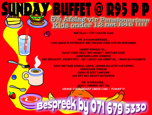 Restaurants South Africa On Twitter Sunday Buffet Special