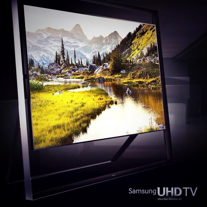 Oh my god... Is this even real! @SamsungTV that's unreal x http://t.co/1rAX2zRqAN