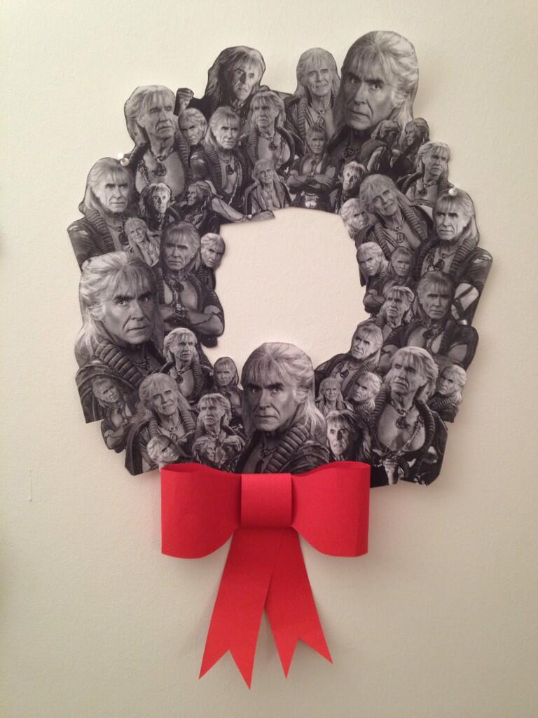 RT @apianoshrine: Made this last night, @wilw @nerdist  THE WREATH OF KHAAAAN. http://t.co/hcREGlWzQY