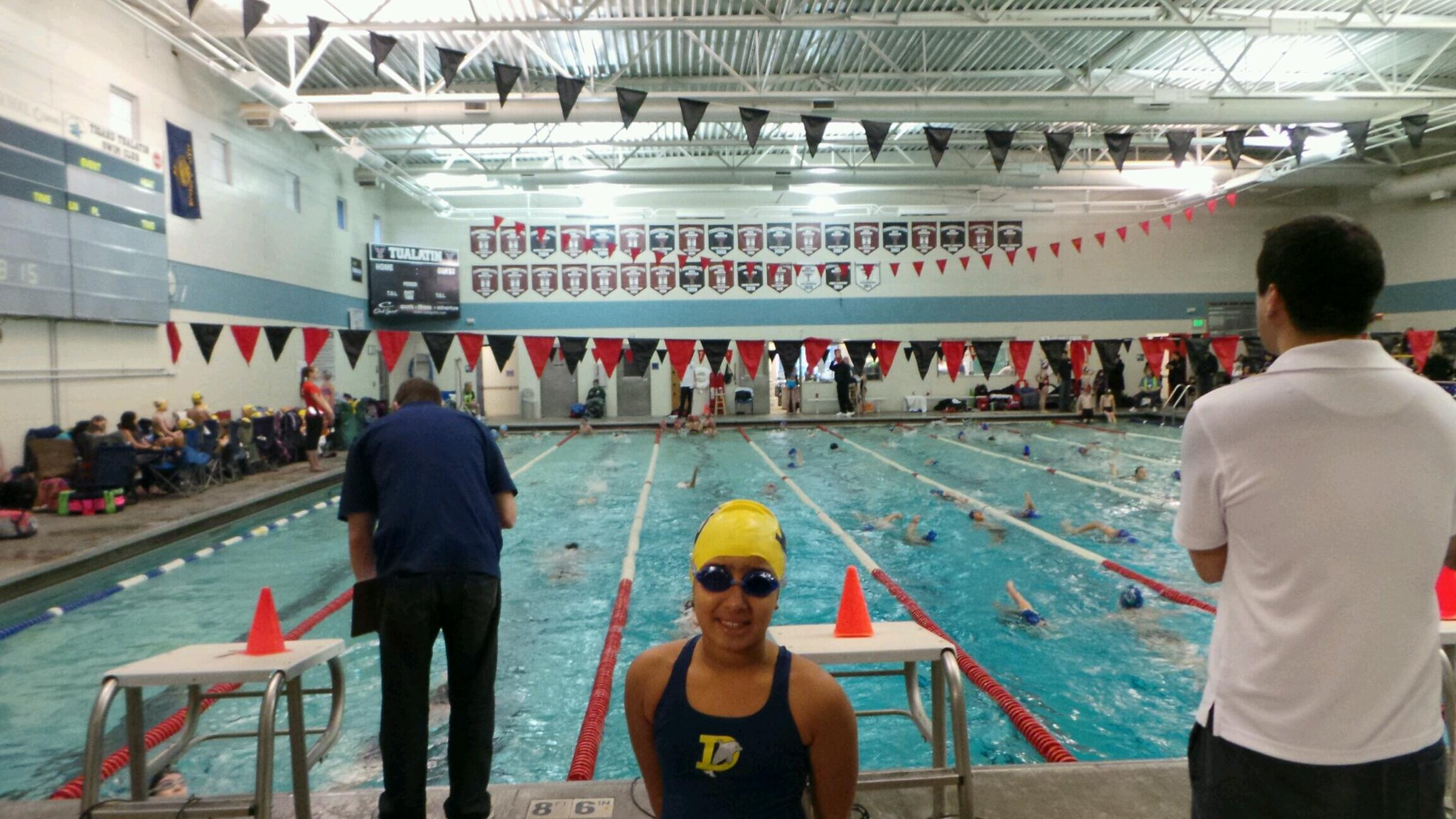Day 2 of the swim meet...! Time for Rhi to #GoHardOrGoHome http://t.co/RoUZX8xaet