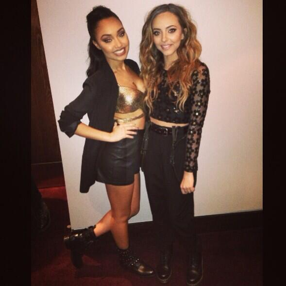 Me and Jadie at the #JingleBellBall :) can't wait to get on stage!! Leigh x http://t.co/fstnrgHa4J